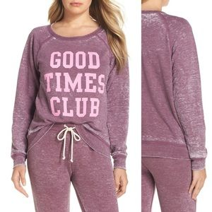 NWOT Junk Food Good Times Club Sweater